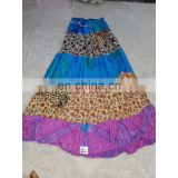 Women's Designer Handmade Cotton Printed Skirt girls wear long Dress party Wear