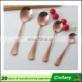 customized wedding and hotel rose gold cutlery set
