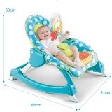 4 in 1 plastic music electric rocker baby rocking chair with light
