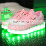 Wholesale Children kid USB rechargeable LED luminous light shoes kids