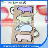Customized animal shape flat metal paper clips