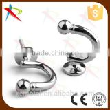 A Pair Decorative Wall Hook Chrome Curtain Tie Backs Hardware drapery Hanger