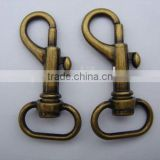 Metal swivel bolt snap for handbag chains,clasp connector,