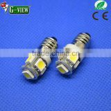 Superbright E10 5smd 5050 car led lighting 5smd led car bulb E10