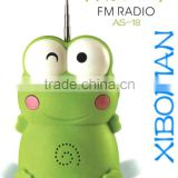 FM Auto Scan type Radio fm radio receiver with lasting antenna Frog radio with built-in speaker