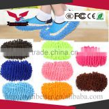 Mop Slipper Shoes Cover Multi-Function Chenille Fibre Washable Dust Remover Random Color