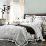 High quality 100% cotton satin fabric hotel used european style 6 pcs bedding set