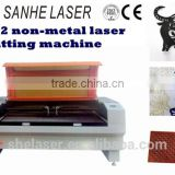 Non-metal and hot sale in Europe 1610/1390 Co2 laser cutting machine for leather and cloth