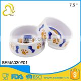 Hot selling round pet ware melamine plastic dog bowl