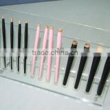 customized counter PMMA/Pleiglass/Acrylic Cosmetic eyebrow pencil Displays stand rack organizer for retail sale