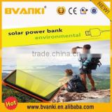 Hot new products for 2015 outdoor Waterproof Solar Mobile portable Power Bank Charger 12000mAh