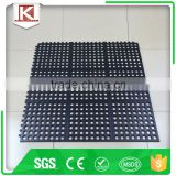 "General Purpose Rubber Safety/Anti-Fatigue Ultra Mat, for Wet Areas, 3' Width x 3' Length x 1/2"" Thickness, Black"