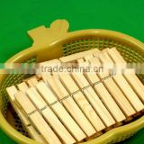 Drying Set Wooden Pegs Plastic Basket