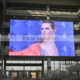 Competitive price outdoor full color transparent grid led advertising video curtain display/flex led curtain display