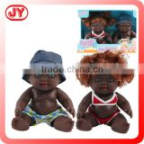 New 8.5 inch black silicone doll molds for sale 2 dolls plastic ABS and EN71