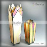GV13060705 china wholesale tiffany style stained glass vase for flower holder home decoration item