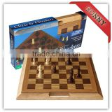 2016 Wooden Folding Backgammon Checkers Chess Game Set