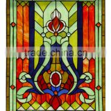 P-3 tiffany glass panel stained panel tiffany style fireplace glass art wholesale china tiffany windows