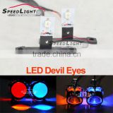 Speedlight Osram Chip LED Devil Eyes Fit for All Car HID Projector Headlight,Color White,Blue,Green,Red,Yellow