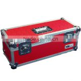 1 X NEO Aluminum Red Storage DJ Case for 300 Vinyl LP Records 7""