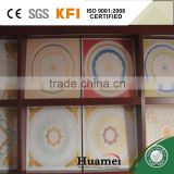 Classic 595x595x8mm Plaster ceiling tiles for bathroom with fiber inside for home decoration