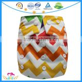 Fashion AIO Cloth Baby Diapers Reusable Print Nappies Girls