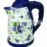 360 degrees rotating basenew designed enamel electric kettle, jug kettle, CE/RoHS approved enamel kettle, enamel water kettle