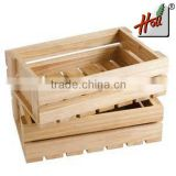 Personalized pine wood gift box with lid HCGB8031                                                                         Quality Choice