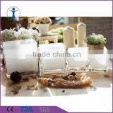 decoration spary color square white/black candle glass jar                                                                         Quality Choice