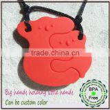 Hot!Fashional Custom Decoration Necklace/Eco-friendly FDA Passed Chewable Silicone Teething Jewelry