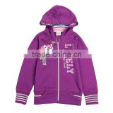(F3033) purple nova baby girls fashion autumn winter hoodies printed cartoon children outwears