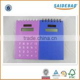 Multifunction kraft paper cover spiral notebook, factory price and customer spiral notebook with calculator and pen