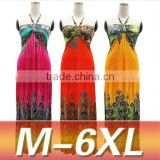 Z55234B New Style Summer Dress Boho Women Dress Printed Maxi Beach Dress