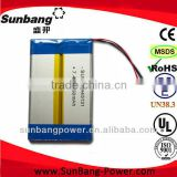 thin lipo battery rechargeable 35125130 li-polymer battery lipo battery 7.4v battery pack 7.4v 3850mah 7.4v battery