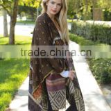 2015 New Fashion Cardigan Poncho With Tassel Batwing Winter Shawl For Lady