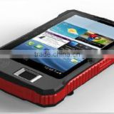 android rugged handheld 3g wifi fingerprint tablet with 13.56mhz rfid reader,bluetooth,gps