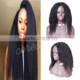 Natural Looking Italian Yaki Lace Front Wig Best Brazilian Remy Human Hair Wig For African Americans