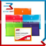 A5 A4 size clear envelopes plastic document folder with magic tape