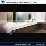 Hot selling artificial stone bathroom marble counter top wash basin
