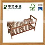 FSC&SA8000 high quality eco-friendly bamboo wooden shoe Rack shoe display rack