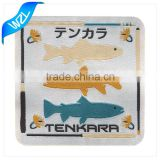 Hot sale in Japan garment of fishing laser cut woven labels
