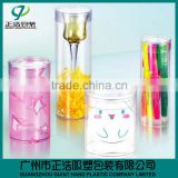 GH10-hot sale factory price Customized clear plastic cylindrical container for retail