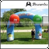 "OEM custom special inflatable chocolate ""M&M"" bean archway for advertising"