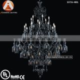 Baccarat Style Black Cristal Chandelier with 48 Light
