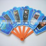 OEM Plastic folding hand fans,mini pp fans, good quantity plastic fan