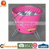 Garden BBQ Roasting Bucket Grill Coloful Barbecur Charcoal Grill Painting Coated Roasting Oven Mini Portable Grill Fire Box