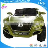 2016 Wholesale Two Seats Battery Powered Electric Ride On Kids Toy Car Remote Control Green