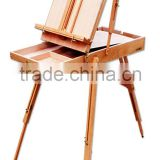 French Easel Wooden Sketch Box Portable Folding Art Artist Tripod Painters Easel, perfect travel companion