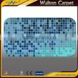Hot designs hand colored 3D embossed EPVC eco-friendly mosaic bath mat