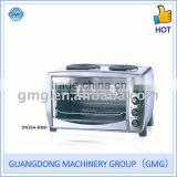 38L 110V-240V 1200W Electric Oven With Two Hotplates